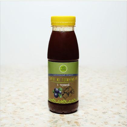 Натуральный сироп из топинамбура без сахара с черникой, 330г