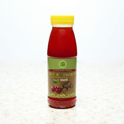 Натуральный сироп из топинамбура без сахара с вишней, 330г