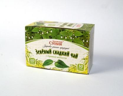 Чай зеленый со стевией и мелиссой, 30г
