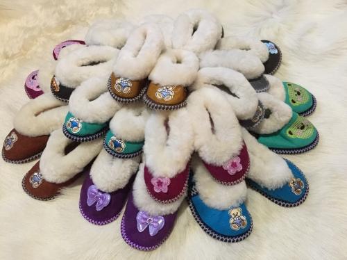 Чувяки ДЕВОЧКА из натуральных овечьих шкур «подростковые»