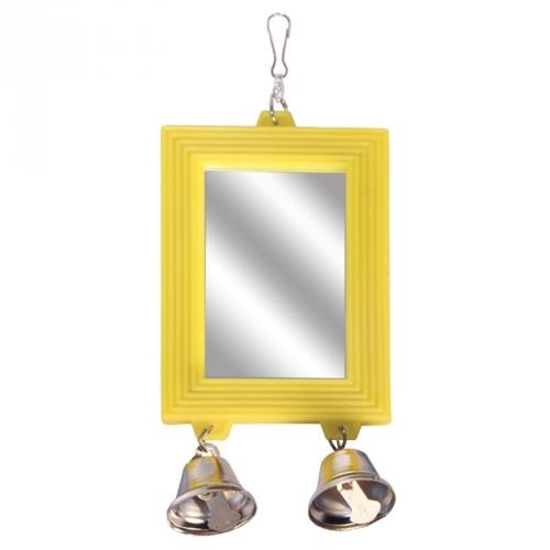 ТРИОЛ BR-7 Игрушка для птиц зеркало с колокольчиком