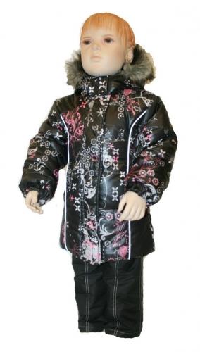 А-1031 куртка Классик черный принт
