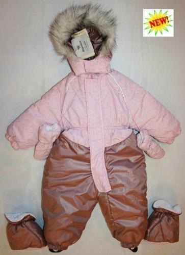 1025 Комбинезон Морозко розовый-сизый