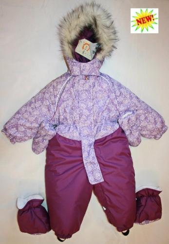 1025 Комбинезон Морозко фиолет-листочки