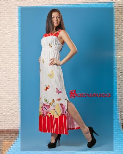 Сарафан женский контрастного цвета