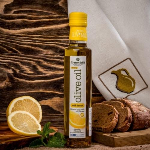 Оливковое масло с лимоном Cretan Olive Mill, 250мл