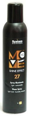 DIKSON MOVE ME 27 SHINE EFFECT Спрей с эффектом шелкового блеска