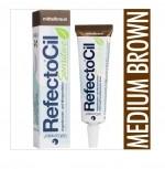 REFECTOCIL. Краска для бровей и ресниц SENSITIVE mittelbraun коричневая 15 мл