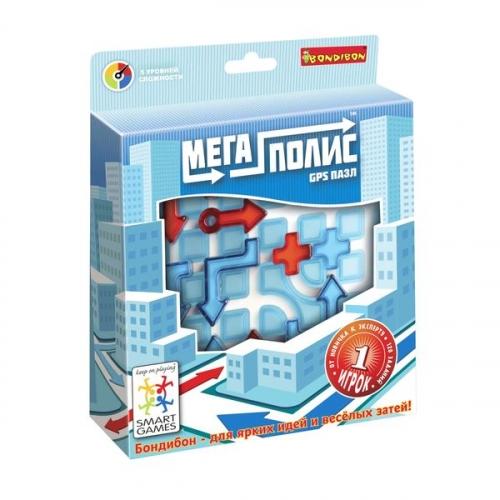 Логическая игра Bondibon Мегаполис-GPS пазл, арт. SG 470 RU.