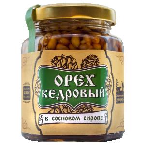 tОрех кедровый в сосновом сиропе, 220 гр