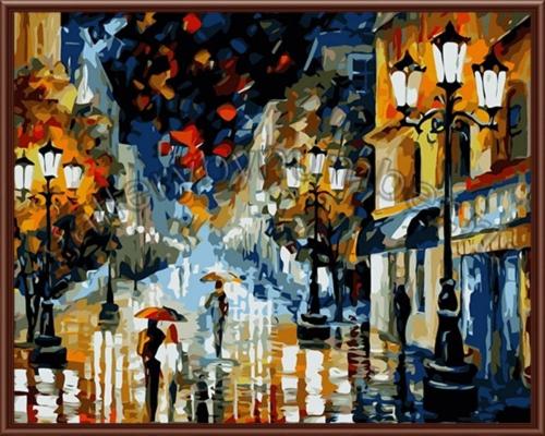 В каплях дождя