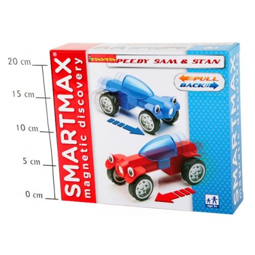 Магнитный конструктор SmartMax/Bondibon Специальный (Special) набор инерц.:Гонщики Сэм и Стэн,арт207