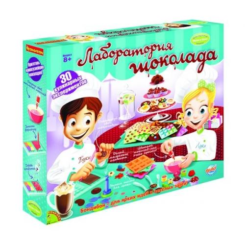 Французские опыты Науки с Буки Bondibon (30 экспериментов) Лаборатория шоколада арт.7066