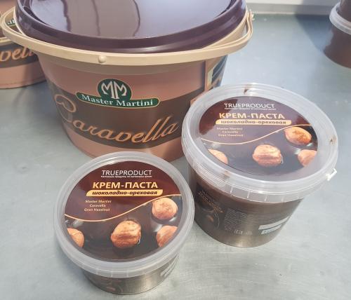 Шоколадно-ореховая паста Caravella Gran Hazelnat - ореха 12%! самый насыщенный вкус  - пр-во Италия (12% нат. лесной орех)