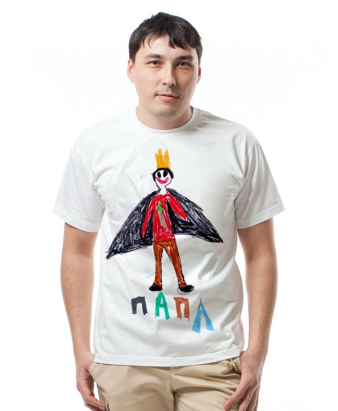 футболка с детским рисунком - отличный подарок родителям