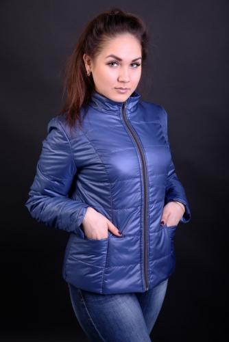 Куртка женская утепленная синтепоном арт. KG-001 цвет- синий