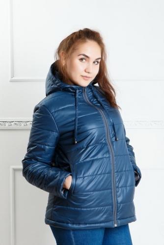 Куртка женская с капюшоном,утепленная синтепоном, цвет - индиго