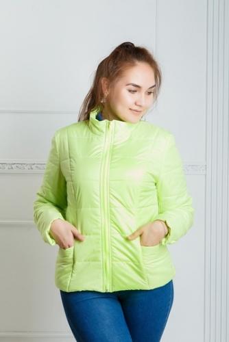 Куртка женская утепленная синтепоном арт. KG-001 цвет- лайм
