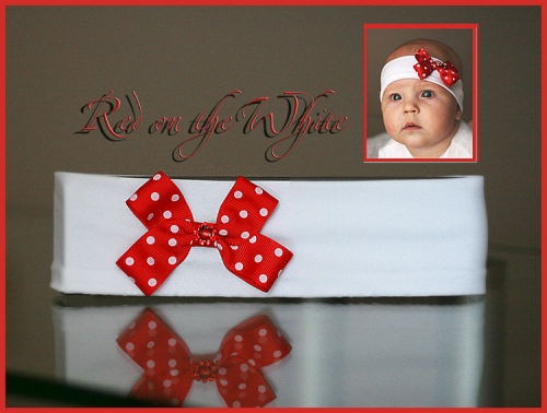 Red on the white…