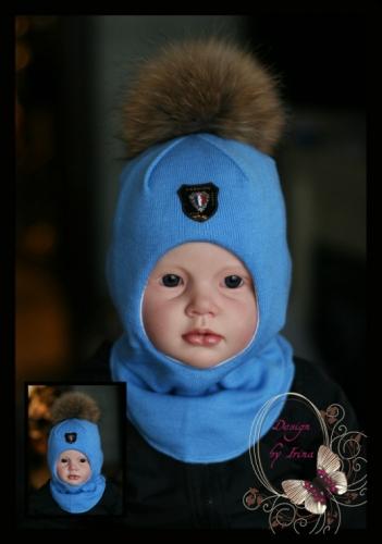 Шлем для мальчика «Фэшн»(голубой)