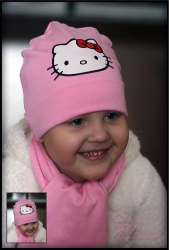 Хлопковая шапочка с принтом HELLO KITTY