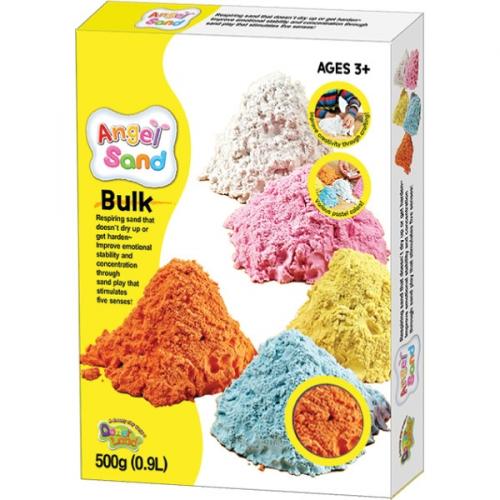 Песок для творчества Angel Sand, 900г, цвет оранжевый MA07013