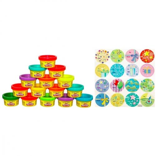 Набор пластилина Play-Doh (Плэй-До) Для праздника, 15 шт 18367