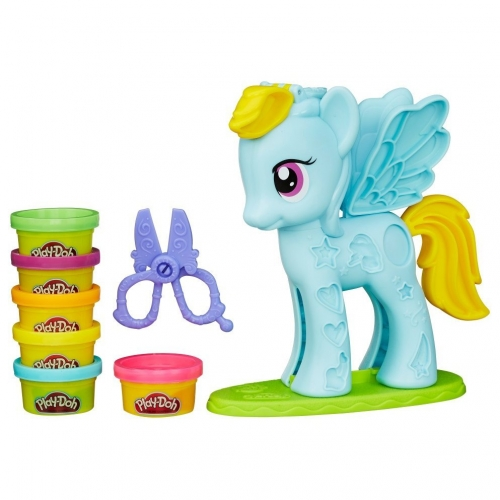 Набор пластилина Play-Doh Стильный салон Рэйнбоу Дэш B0011