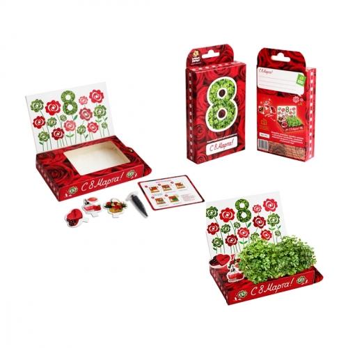 Подарочный набор для выращивания 8 Марта. Розы hps-205