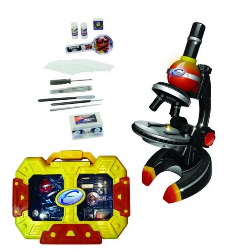 Набор для исследований Детский микроскоп в кейсе, цвет желто-красный 92022