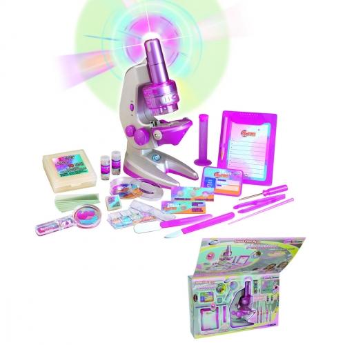 Набор для исследований Большой микроскоп для девочек 2212