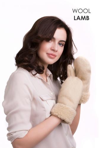 Варежки меховые карамель Артикул 96530
