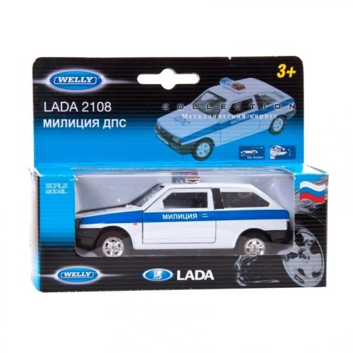 Коллекционная модель машины Lada 2108. ДПС 1:34-39 42377PB