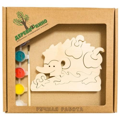 Развивающая игрушка Ежик с грушей с красками 655
