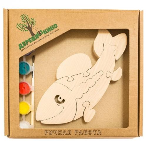 Развивающая игрушка Рыба с красками 687