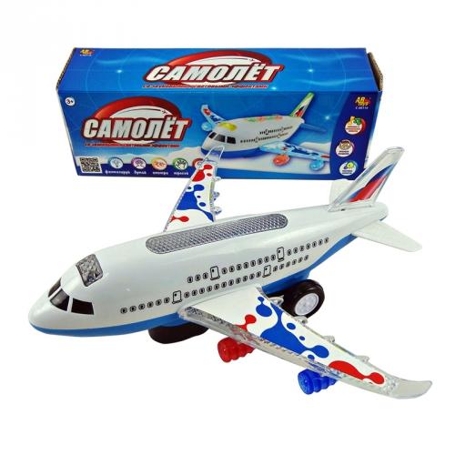 Игрушка Самолет электромеханический со световыми и звуковыми эффектами C-00116