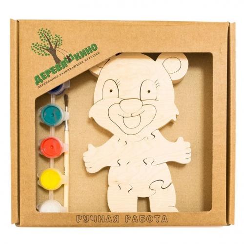 Развивающая игрушка Мишка 2 с красками 716