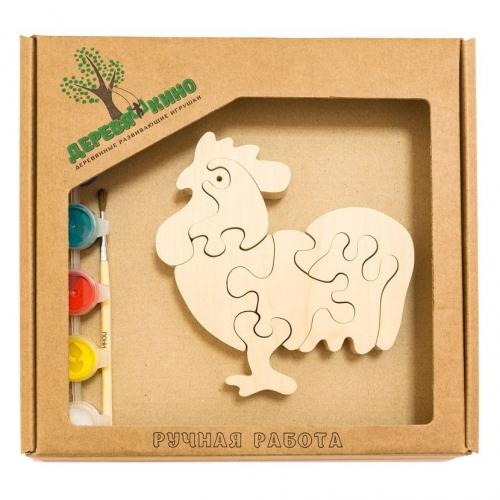Развивающая игрушка Петушок 3 с красками 674