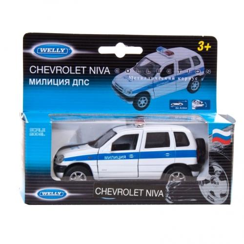 Коллекционная модель машины Chevrolet Niva. ДПС 1:34-39 42379PB