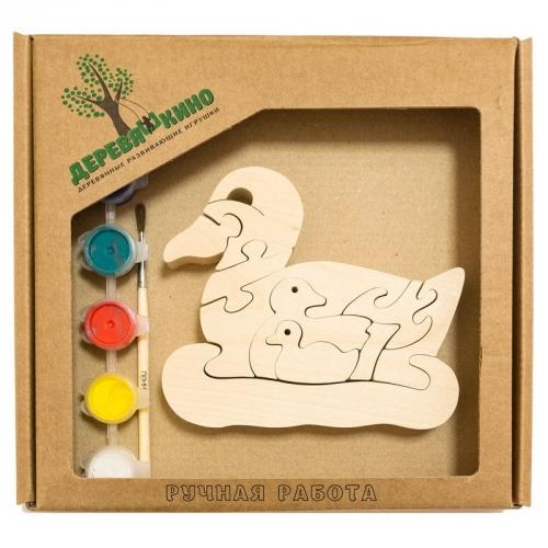 Развивающая игрушка Утка и утята с красками 657