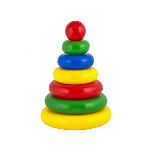 Развивающая игрушка Пирамидка. Малышок 6Ш 01602