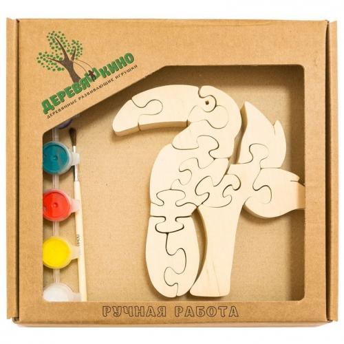 Развивающая игрушка Тукан с красками 681