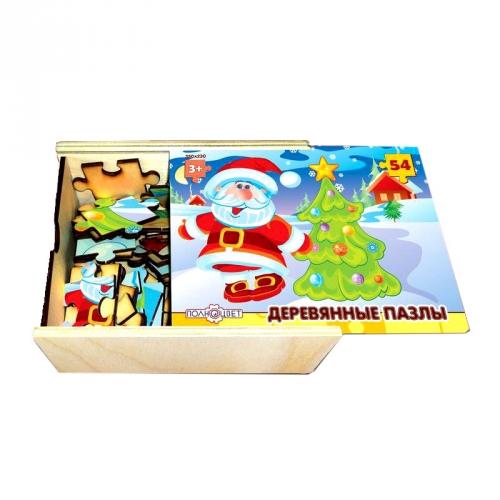 Пазл деревянный Дедушка Мороз, 54 элемента 162932-DPD