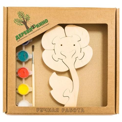 Развивающая игрушка Цветок с красками 679