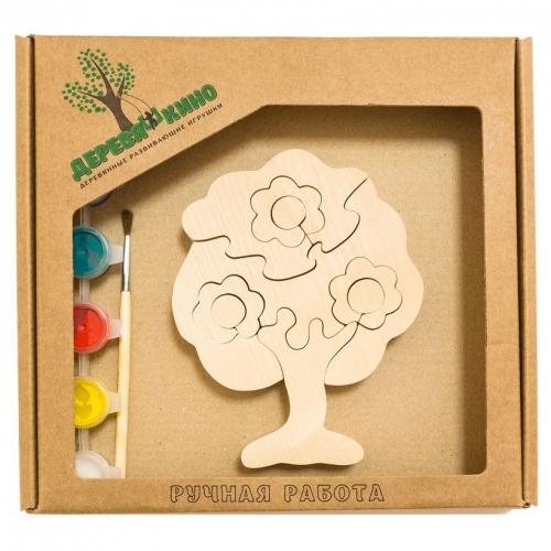 Развивающая игрушка Дерево в цветах с красками 683
