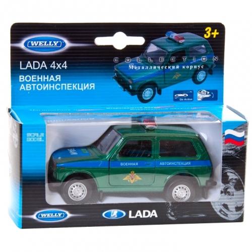 Коллекционная модель машины Lada 4x4. Военная автоинспекция 1:34-39 42386MC