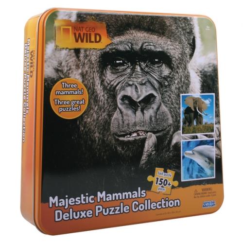 Пазл 3 в одном: слон, горилла и дельфин, 150 элементов 16446