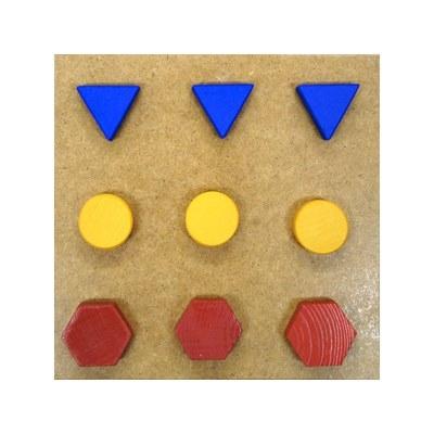 Развивающая игрушка «Ящик Сегена», 9 деталей, 3 цвета, 3 формы Д-294