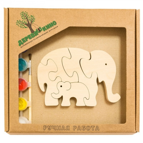 Развивающая игрушка Два слона с красками 700