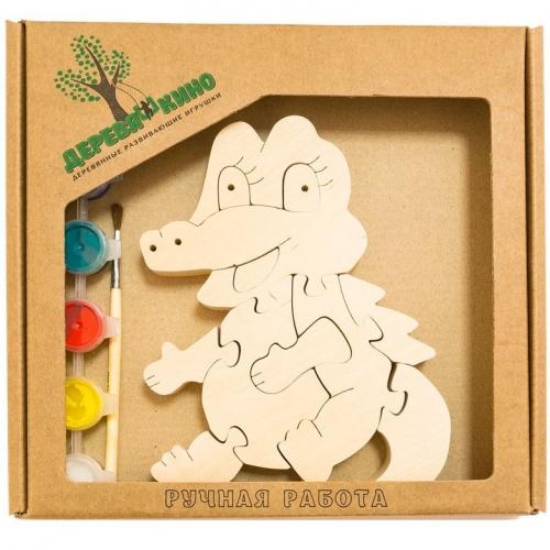 Развивающая игрушка Крокодильчик с красками 728